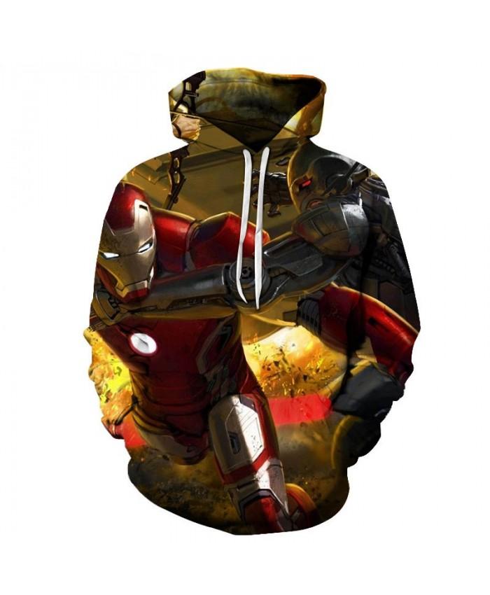 Iron Man 3D Print Sup Hoodie Mens Long Sleeve Sweatshirt Hoodies Marvel The Avengers Men's Sweatshirt Fashion Men Hoodies