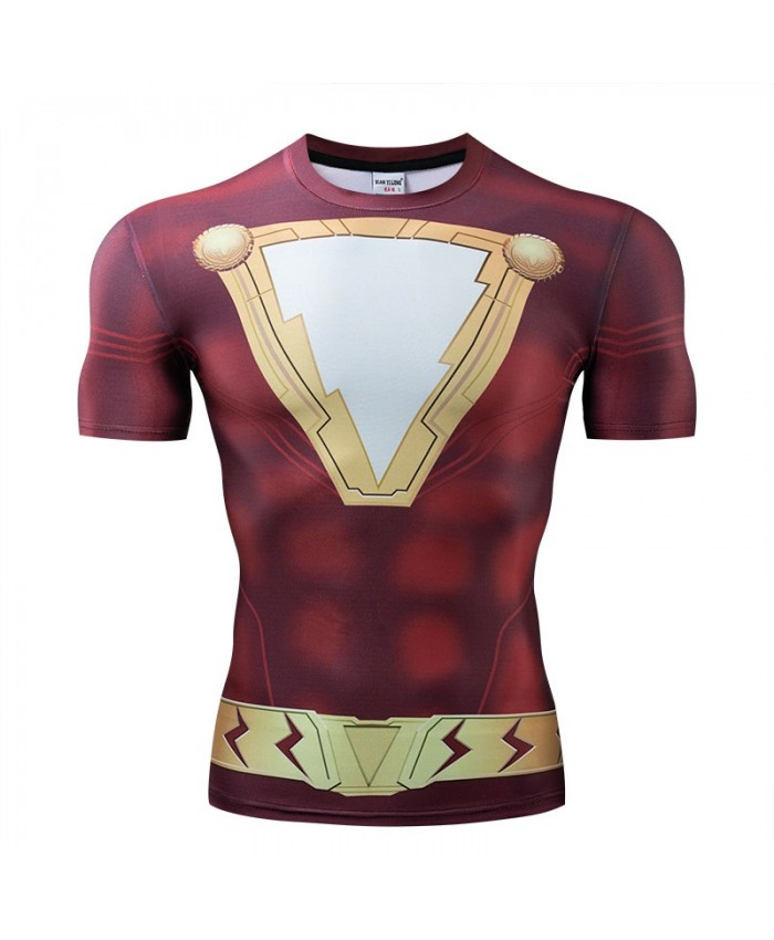 Iron Man T Shirt Men The Avengers 4 Tops Short Sleeve Tees Fitness Compression Mens T-Shirt Marvel Round Neck Bodybuilding
