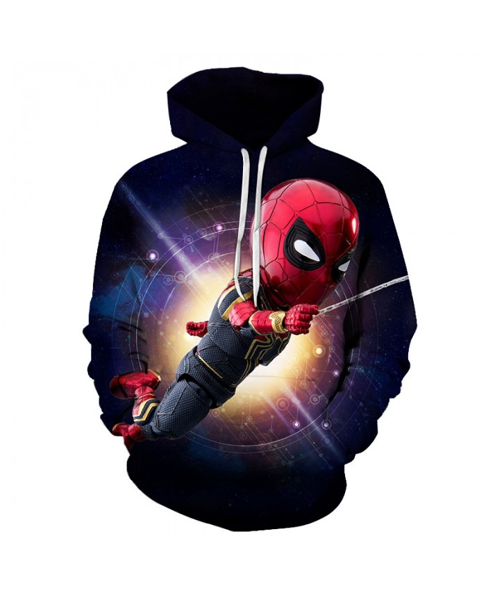Iron Spiderman 3D Hoodie Men 2019 New Design Mens Hoodies Funny Hip Hop Sweatshirts Fashion Men Women Anime Streetwear Clothes