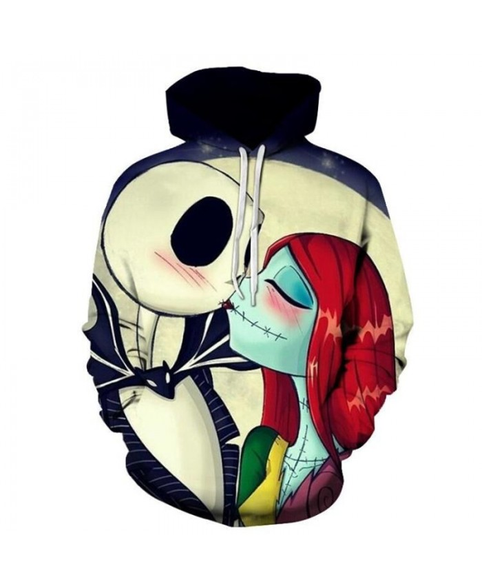 Jack and Sally Printed 3D Hoodies Men Women Sweatshirts Casual Pullover Fashion Tracksuits Brand Hoodies Drop Ship
