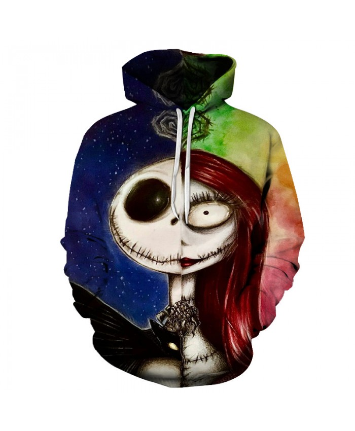 Jack and sally painting Hoodies 3D Sweatshirts Men Women Tracksuits 2021 Hooded Pullover Brand Drop Ship Hoodie Casual Coats
