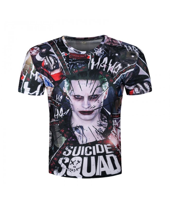 Joker 3d T-shirt Men Suicide Squad T shirts Hip Hop Funny Tops Harley Quinn Short Sleeve Camisetas Fashion Novelty