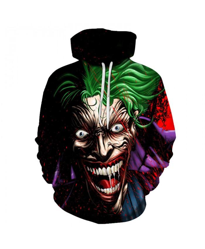 Joker Hoodies Men 3D Sweatshirts Unisex Pullover Movie Tracksuit Printed Funny Outwear Novelty Streetwear Male Hot Sale 6XL