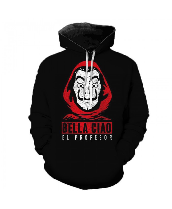 La Casa De Papel 3D Printed Hooded Sweatshirts Money Heist TV Series Pullovers Men Women Fashion Casual House of Paper Hoodies