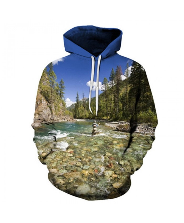 Lake 3D Hoody Fish Hoodies Men Sweatshirts Anime Tracksuit Brand Pullover Streatwear Clothing Funny Coat Drop ship C