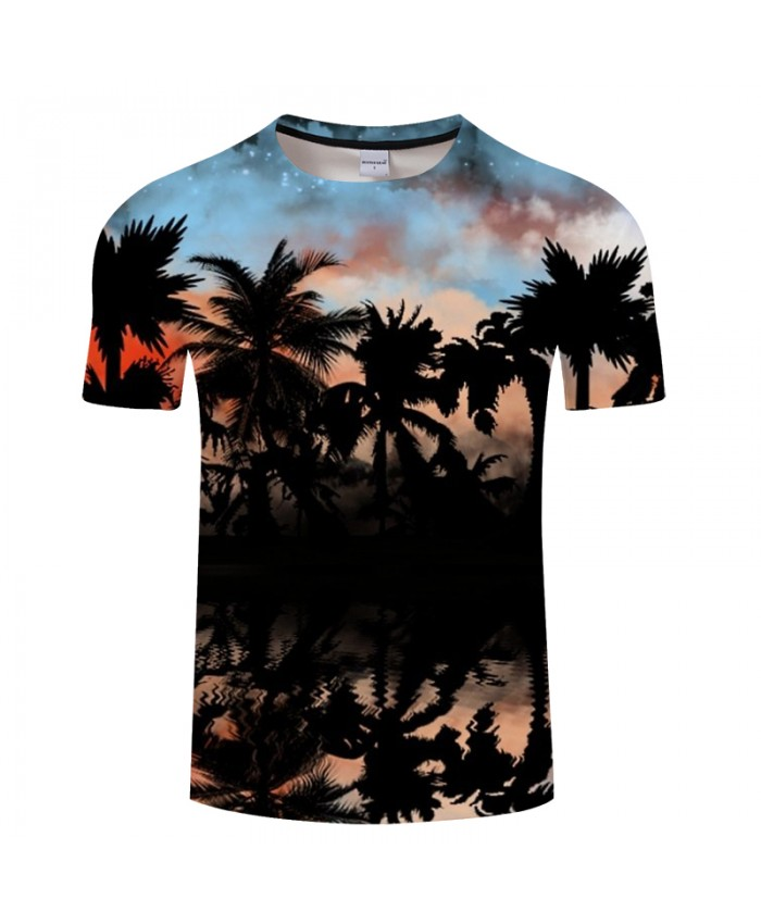 Lake Scenery&Coco 3D Print t shirt Men Women tshirt Summer Casual Short Sleeve O-neck Tops&Tee Streetwear Drop Ship