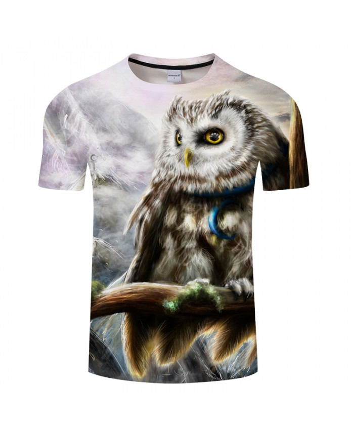 Land of a Crescent by Owl 3D Print t shirt Men Women tshirt Summer Cartoon Short Sleeve O-neck Tops&Tees Drop Ship New