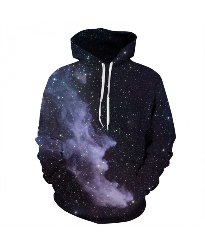 Latest Fashion Men Women Hooded Sweatshirt Dark Cosmic Galaxy Nebula Printing Pullover Men Women Sportwear