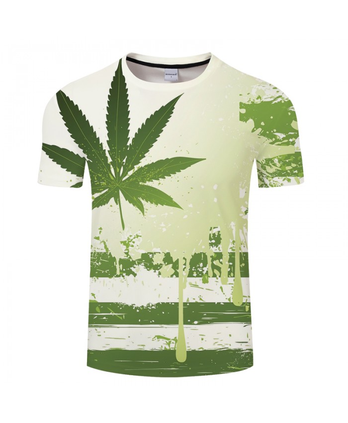 Leaf 3D Print t shirt Men Women tshirt Summer Casual Short Sleeve Boy Tops&Tees Groot Camiseta Small Fresh Drop Ship
