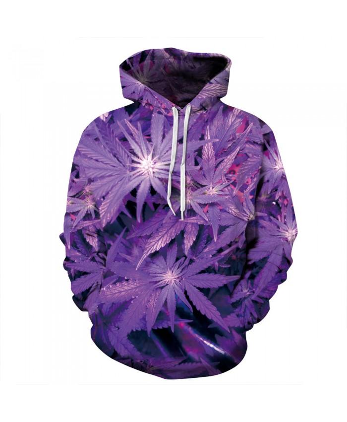 Leaf Print Fashion Neutral Hooded Sweatshirt Casual Hoodie Autumn Tracksuit Pullover Hooded Sweatshirt A