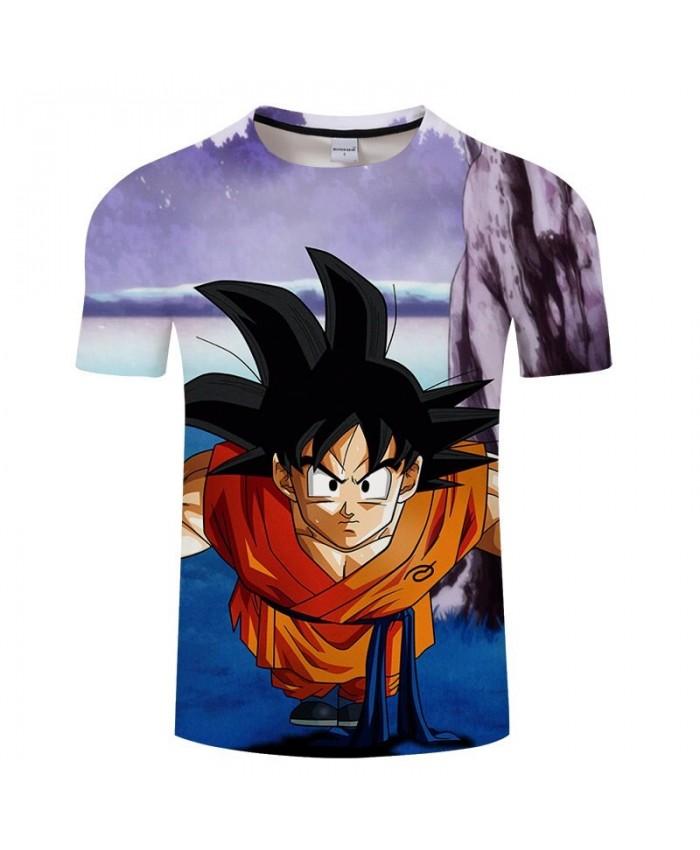 Leaning Forward Cartoon Goku 3D Print Men Dragon Ball tshirt Anime Casual Summer Short Sleeve Male O-neck Drop Ship