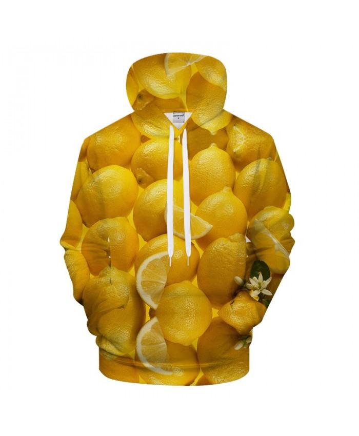 Lemon Print Hoodies 3D hoodie Men Hoody Streatwear Sweatshirt Harajuku Tracksuit Pullover Coat Casual Unisex Dropship