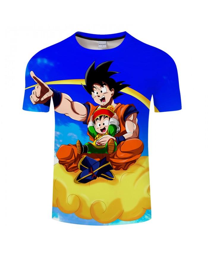 Lets Go Flying Goku 3D Print T shirt Men Dragon Ball Summer Anime Short Sleeve Boy Tops&Tee Tshirts Blue Drop Ship