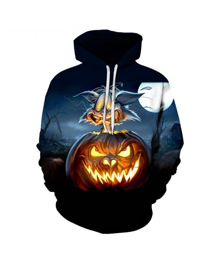 Light Pumpkin 3D Print Hoodies Men Hoody Harajuku Hoodie Streatwear Sweatshirt Tracksuit Pullover Hip Hop Dropship