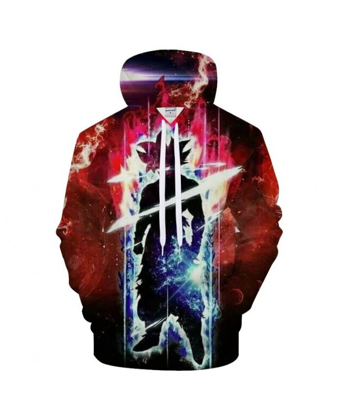 Lightning 3D Hoodies Goku Hoody Men Sweatshirt Galaxy Tracksuit Anime Pullover Streetwear Coat Boy Hip Hop Drop Ship