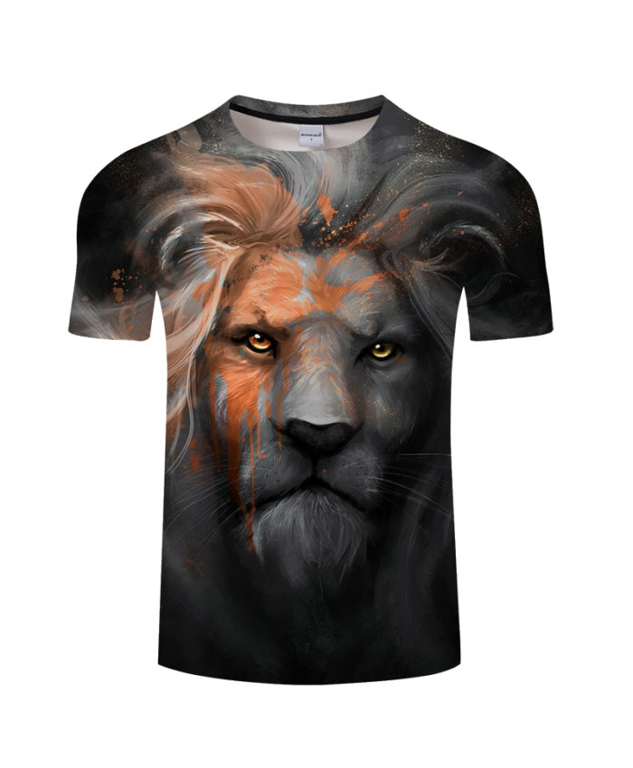 Lion 3D printed Summer T shirts for Men and Women 2019 Summer O-neck Short Sleeve Tops Tees Drop Ship