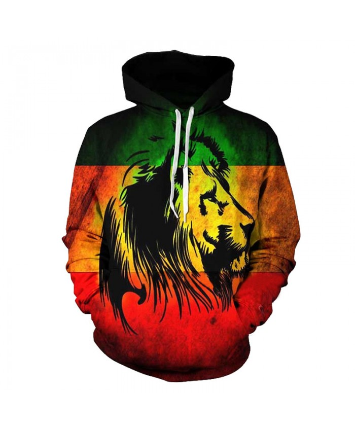 Lion Autumn New Fashion Hooded Sweatshirt Neutral Pullover Casual Sportswear Casual Hoodie Autumn Tracksuit Pullover Hooded Sweatshirt