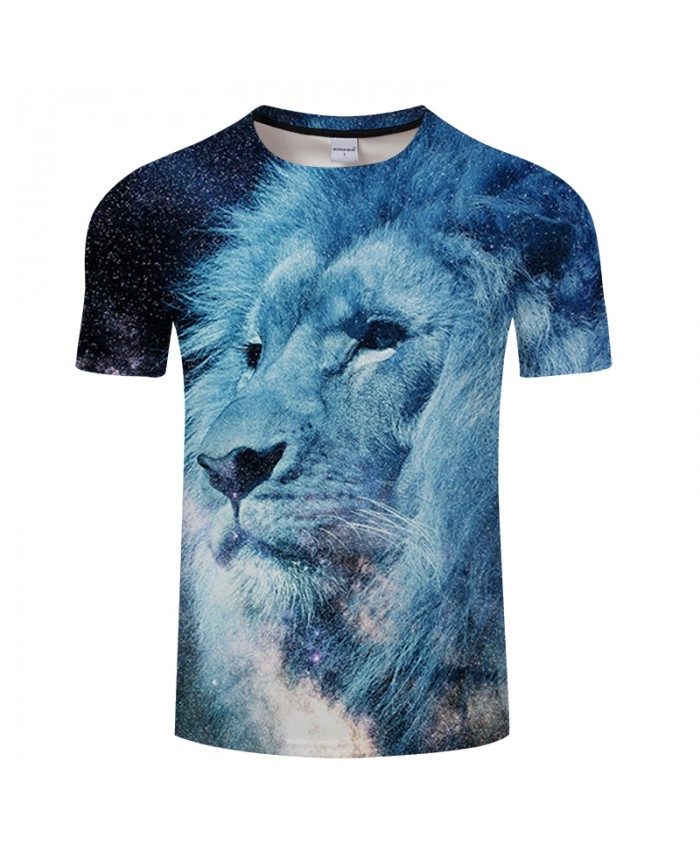 Lion&Galaxy 3D Print T shirt Men Women Summer Casual Short Sleeve Tops&Tees Tshirts Streatwear Camiseta DropShip