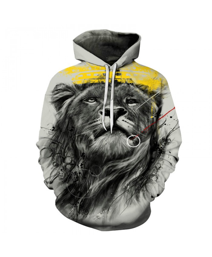 Lion King Printed Hoodies Men Women 3D Printed Sweatshirts Unisex Pocket Jackets Hooded Skateboard Coat Male Streetwear Brand