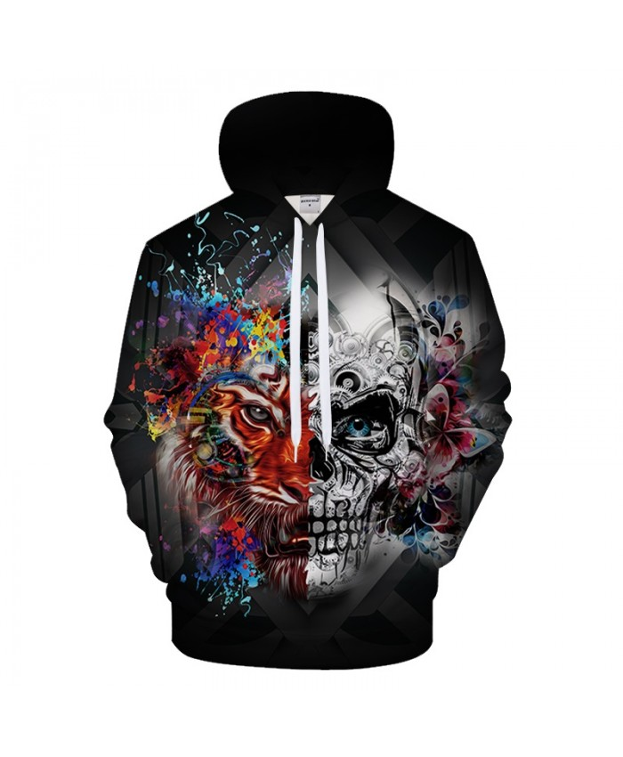 Lion Men Skull Hoody 3D Printed Hoodies Male Sweatshirt Streetwear Tracksuits Groot Pullover Brand Coat New DropShip