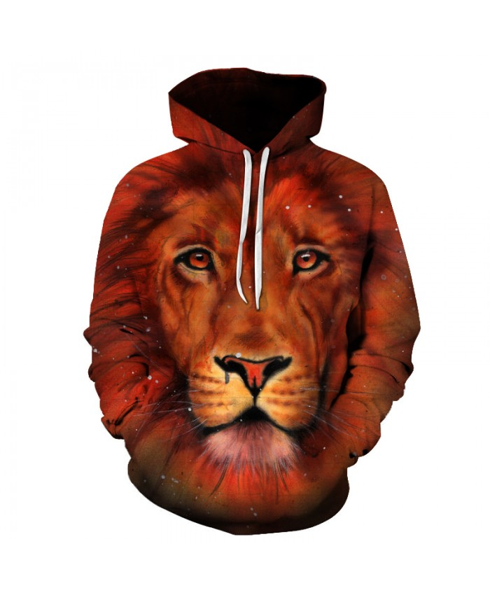 Lion Printed 3D Sweatshirts Men Women Hoodies Unisex Plus Size 6XL Pullover Autumn Winter Jacket Funny Outwear Hooded Jacket