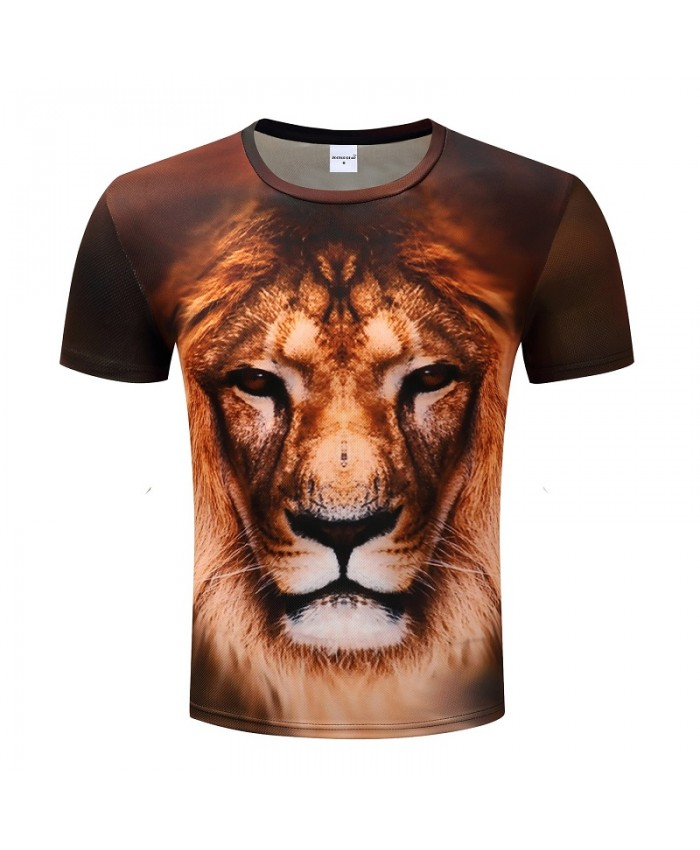 Lion Printed 3D T shirts Men T-shirts Short Sleeve Tshirts Animal Summer Tops Casual Tees Camiseta Homme Fashion Tee