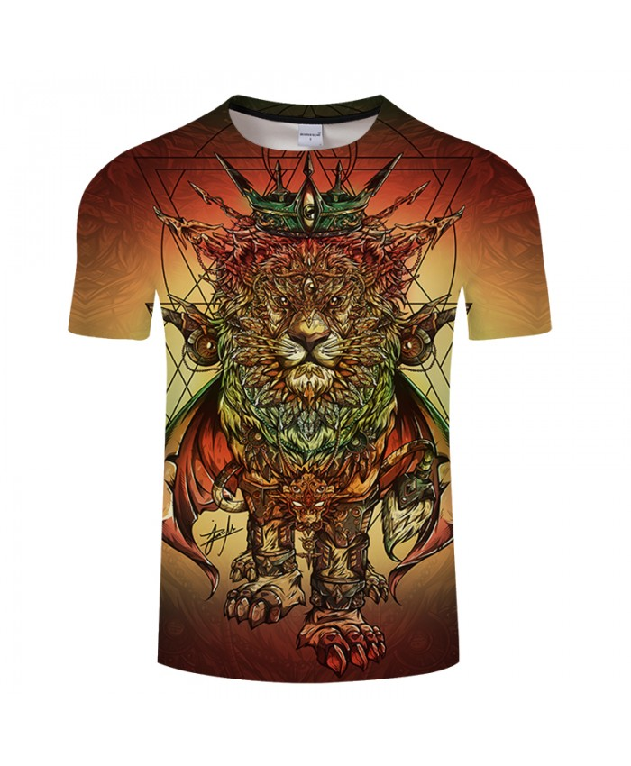 Lion Ras Colors By 3D Print T shirt Men Summer Cartoon ShortSleeve Top&Tee BoyTshirt Streatwear HipHop Camiseta DropShip