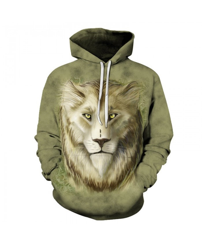 Lion Sweatshirts Men Women Hoodies Anime Tracksuit 3D Printing Pullover Animal Hoody Fashion Coat Hip Hop Drop Ship