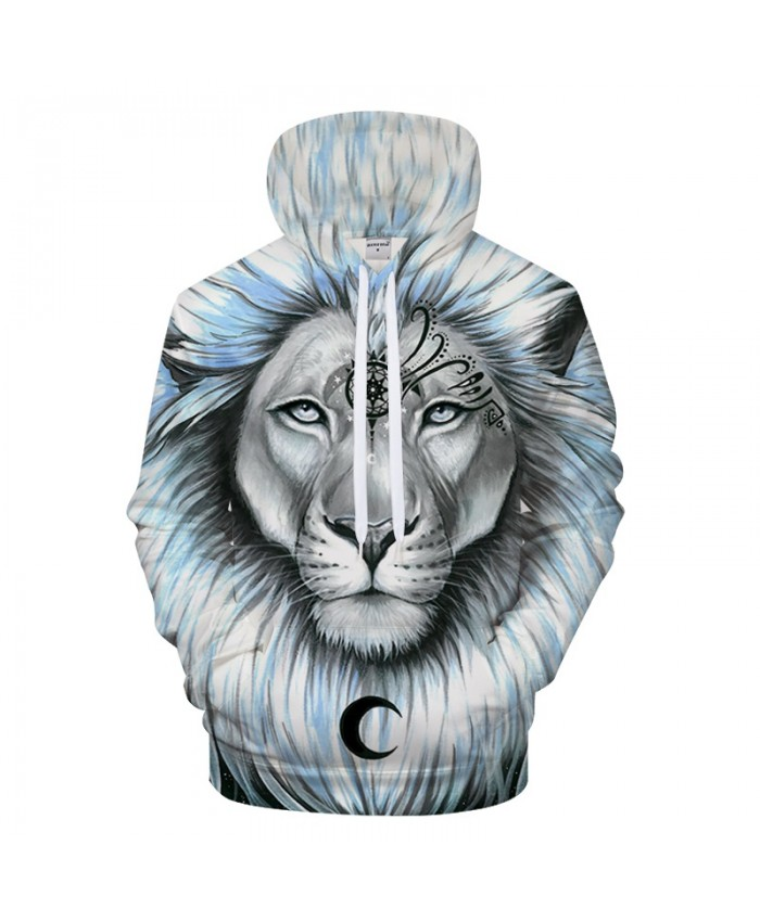 Lion&galaxy By Pixie coldArts 3D Print Hoodies Men Casual Sweatshirt Tracksuit Pocket Pullover Streatwear Hooded Coat DropShip