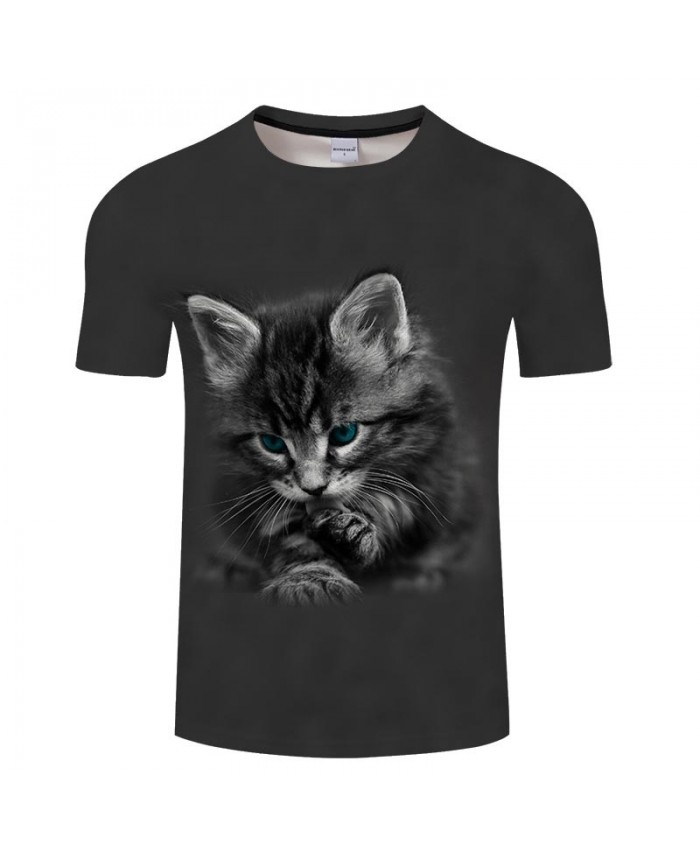 Lonely Cat 3D Printed Men tshirt Crossfit Shirt Casual Summer Short Sleeve Men Brand T Shirt Men Round Neck Tops&Tee