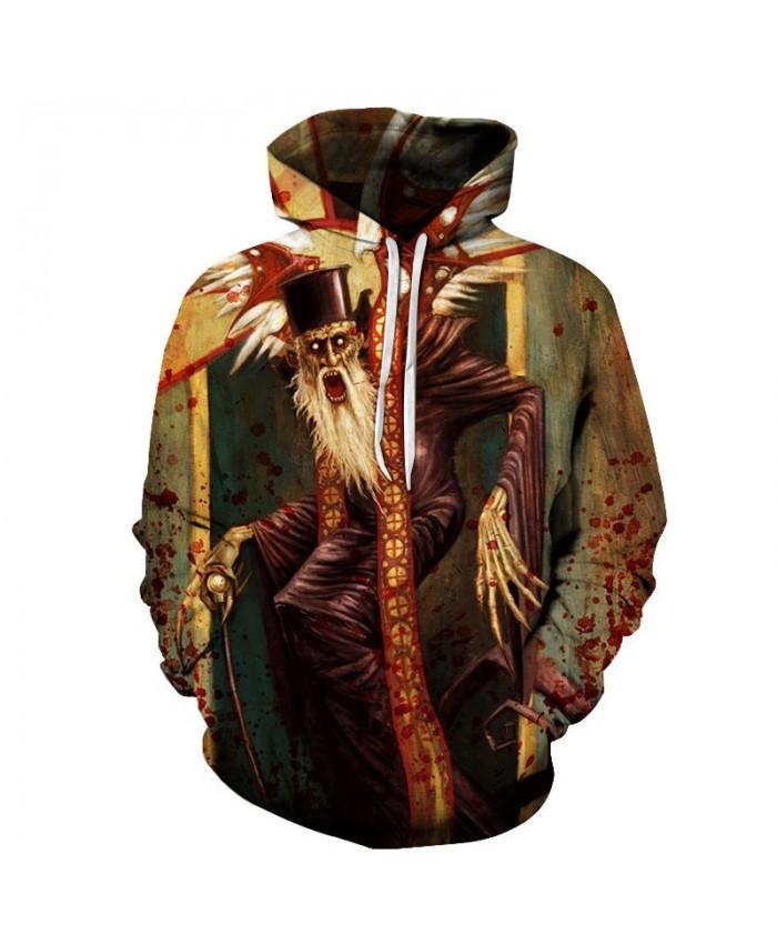 Long Beard Old Man 3D Printed Men Pullover Sweatshirt Clothing for Men Custom Pullover Hoodie Streetwear Sweatshirt