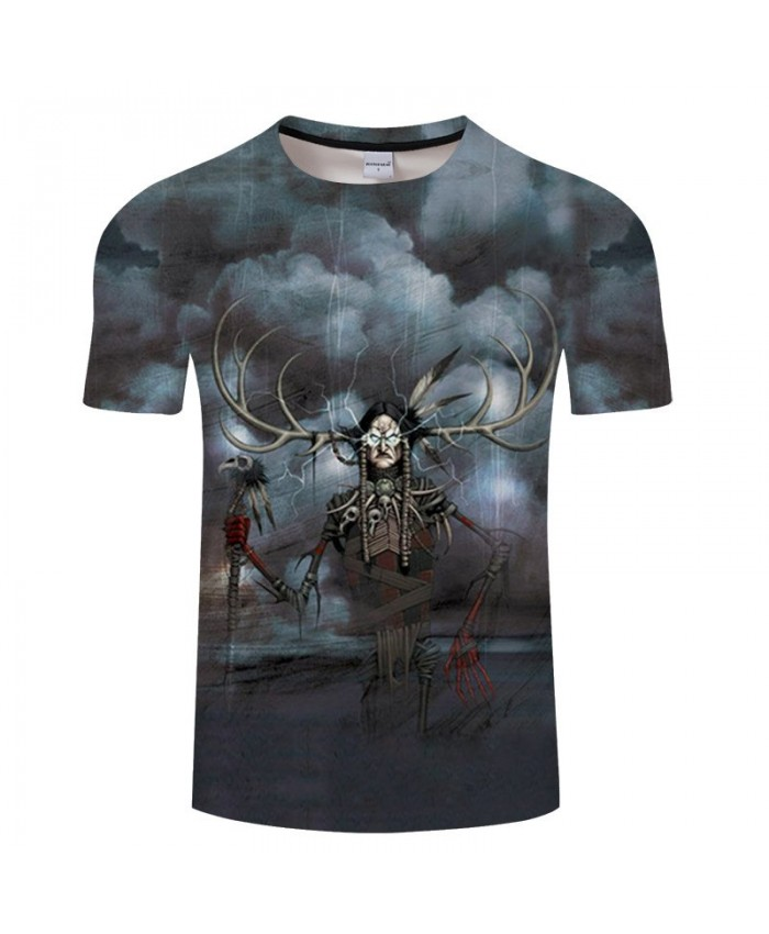 Long Branches On The Head 3D Print tshirt Men tshirt Summer Casual Short Sleeve Male O-neck Tops&Tee Drop Ship