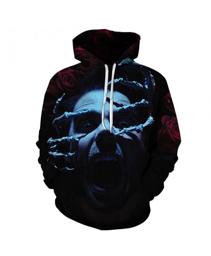 Long Finger Scratching 3D Printed Men Pullover Sweatshirt Clothing for Men Custom Pullover Hoodie Casual Streetwear