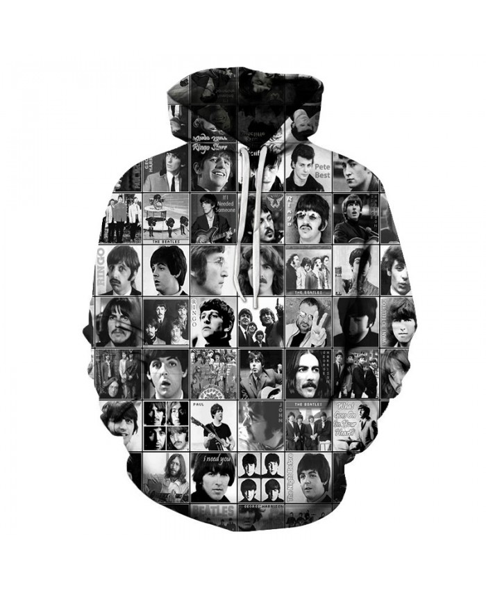 Long Sleeve Hoodies Headportrait Print Men Sweatshirts Drop Ship 3D Pullover Women Tracksuits Spring Unisex
