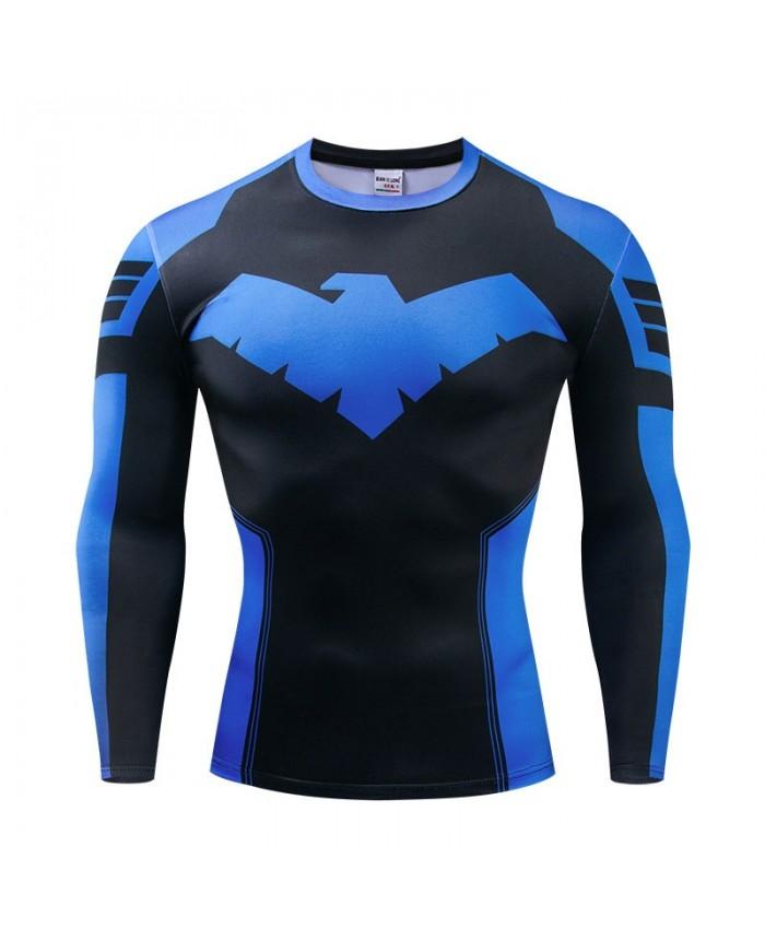 Long Sleeve Men Avengers Endgame Fitness Compression Bodybuilding Tops Long Sleeve Tee Brand The Avengers