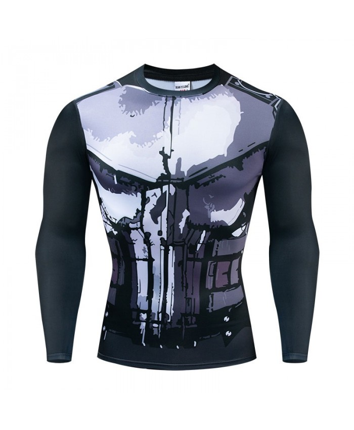 Long Sleeve Men Avengers Endgame Fitness Compression Bodybuilding Tops Long Sleeve The Avengers Tee NEW Brand