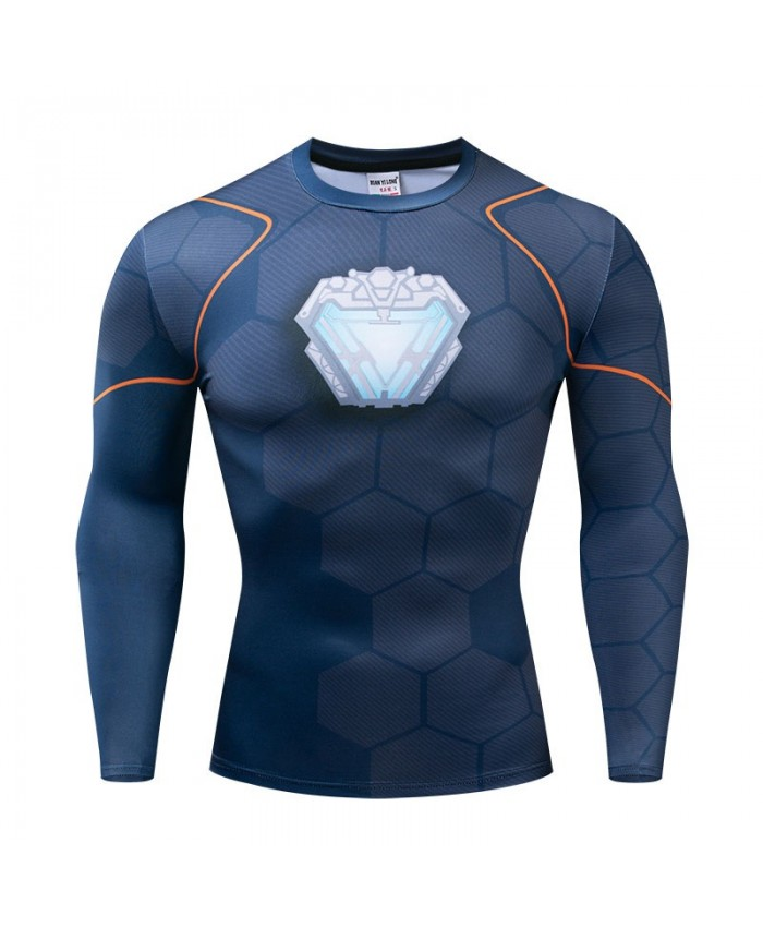 Long Sleeve Men Fitness Compression Avengers Endgame Bodybuilding Tops Long Sleeve Tee Brand The Avengers