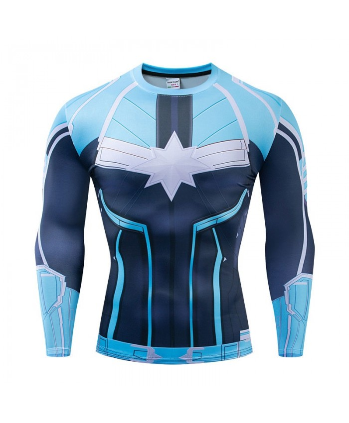 Long Sleeve Men Fitness Compression Bodybuilding Long Sleeve The Avengers Tops Tee Brand Avengers Endgame