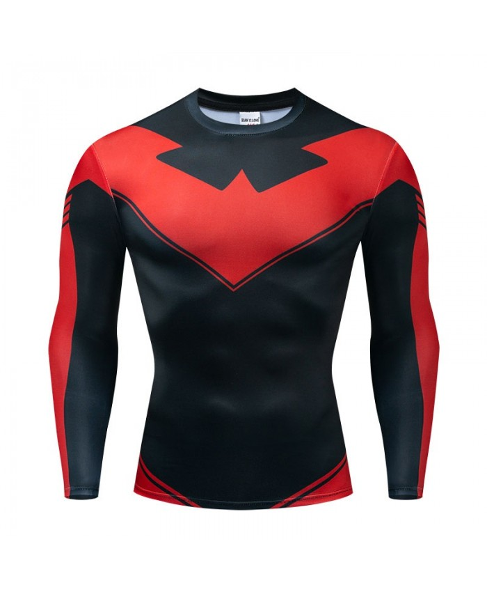 Long Sleeve Men Fitness Compression Bodybuilding The Avengers Tops Fashion Long Sleeve Tee Brand Avengers Endgame