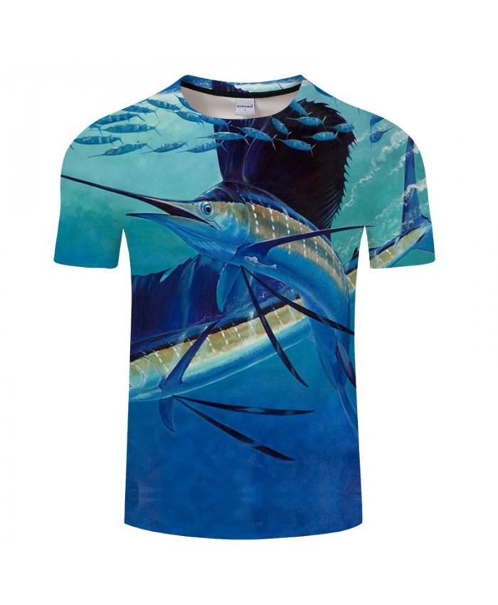 Long-tailed Fish 3D Print T Shirt Men tshirt Summer Casual Slim Men tshirt Short Sleeve O-neck Tops&Tee Drop Ship