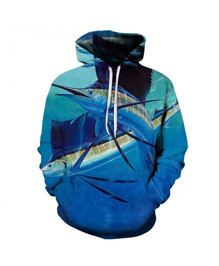 Long-tailed Fish 3D Printed Mens Pullover Sweatshirt Clothing for Men Custom Pullover Hoodie 2019 Pullover Hoodie