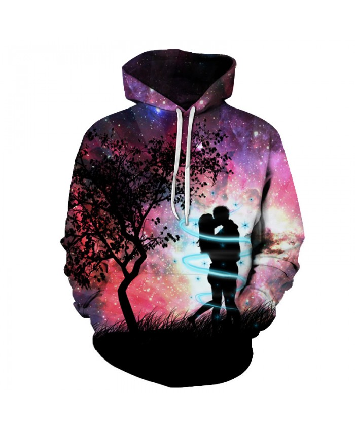 Love Couple Hoodie-Sweatshirt 3D Mens Pullover Autumn Winter Tracksuits Unisex Jackets Fashion Streetwear Male Coats