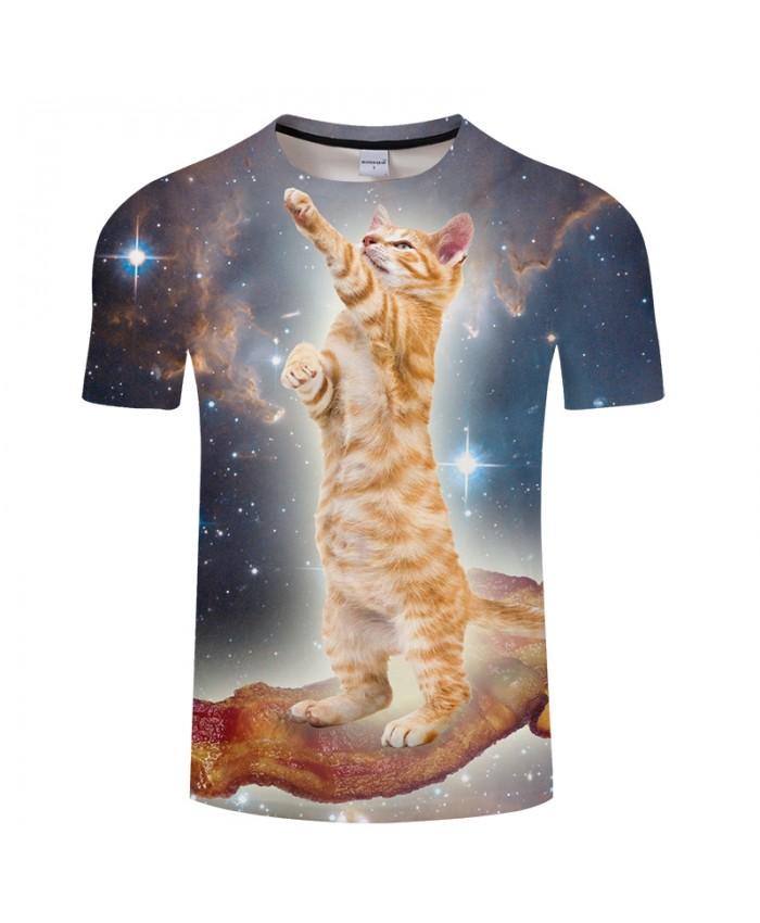 Lovely Cat Print 3D T shirts Men Women tshirts Summer Cartoon Short Sleeve O-neck Tops-Tees 2021 New Style Drop Ship