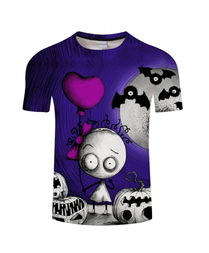 Lovely Halloween 3D Print T shirts Men T-shirt Brand Tops Tee Streetwear Summer Short Sleeve tshirt O-neck Drop Ship
