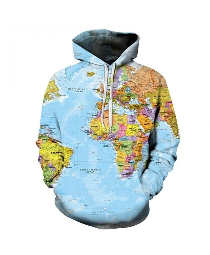 Mainland Map 3D Printed Men Pullover Sweatshirt Pullover Hoodie Casual Fashion Men Hoodie Streetwear Sweatshirt