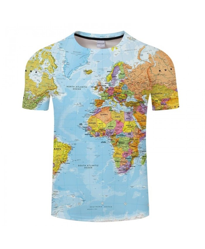 Mainland Map 3D Printed Men tshirt Mens Shirt Casual Summer Short Sleeve Male tshirt Brand Men Round Neck Loose