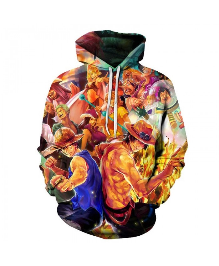 Make A Fist One Piece 3D Hoodies Mens Pullover Sweatshirt Fashion Men Hoodies Pullover Tracksuits Anime Hoodie Men