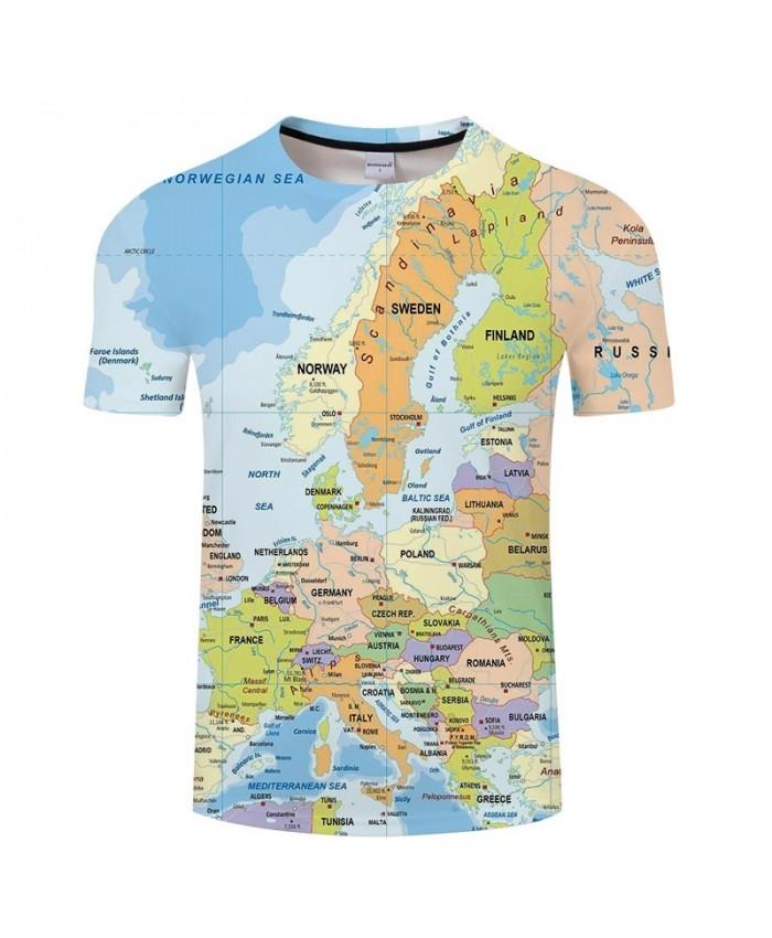 Many Countries Map 3D Printed Men tshirt Mens Shirt Casual Summer Short Sleeve Male tshirt Brand Men Round Neck