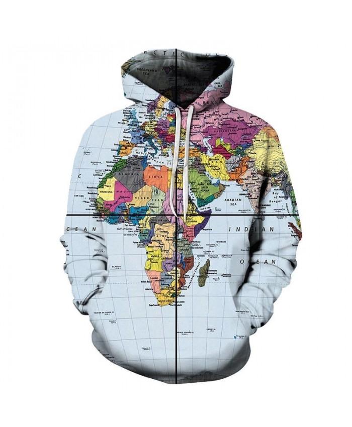 Map 3D Printed Equatorial Center Men Pullover Sweatshirt Pullover Hoodie Casual Streetwear Sweatshirt Fashion Men