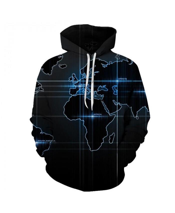 Map 3D Printed Men Pullover Sweatshirt Pullover Hoodie Casual Hoodies Fashion Men Hoodie Streetwear Black Background